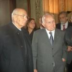 Il Presidente della Repubblica italiana Giorgio Napolitano e il Presidente dell'INSMLI Oscar Luigi Scálfaro
