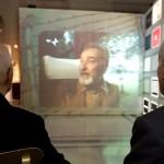 Il Presidente della Repubblica Napolitano e il Presidente dell'INSMLI Scàlfaro assistono ad una testimonianza di Primo Levi.