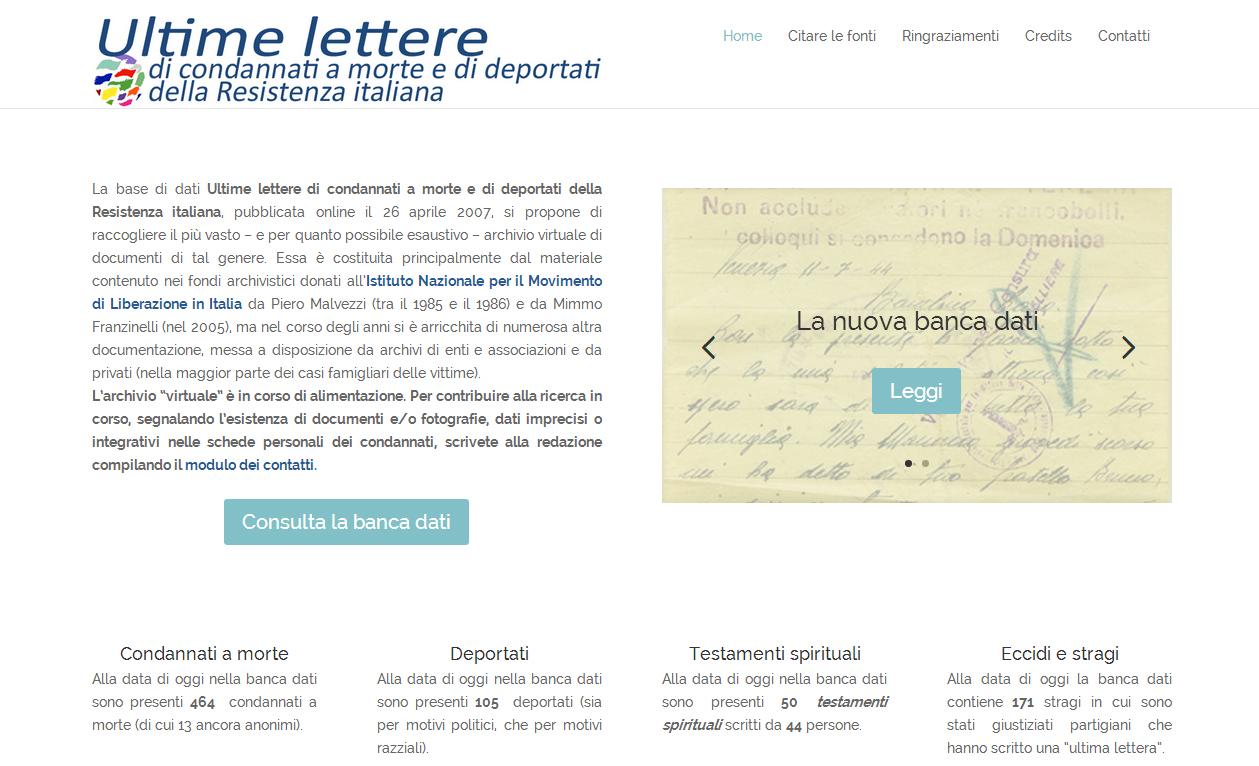 """Post Thumbnail of Nuova versione della banca dati """"Ultime lettere"""""""