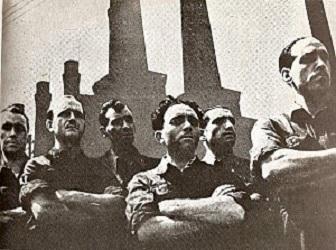 Fotomontaggio sugli scioperi del marzo 1944