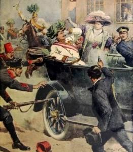 1914 L'attentato di Sarajevo in un'illustrazione di Achille Beltrame