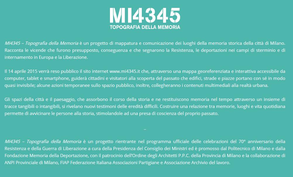 I luoghi di memoria a Milano