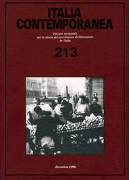 La copertina della rivista Italia Contemporanea dal 1999 al 2009