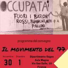 """Convegno """"Il movimento del '77"""""""