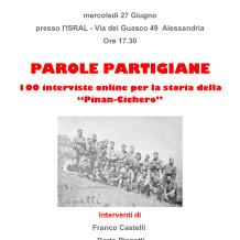 """Parole partigiane"". Interviste on line"