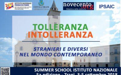 Tolleranza / Intolleranza. Summer school 2018