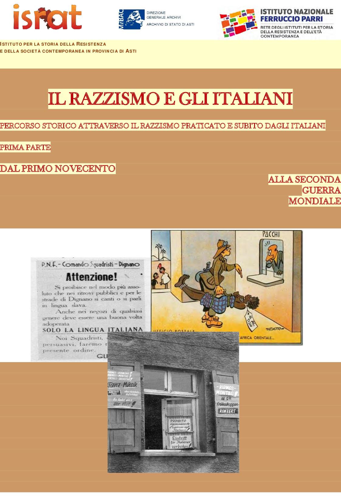 Il razzismo e gli Italiani