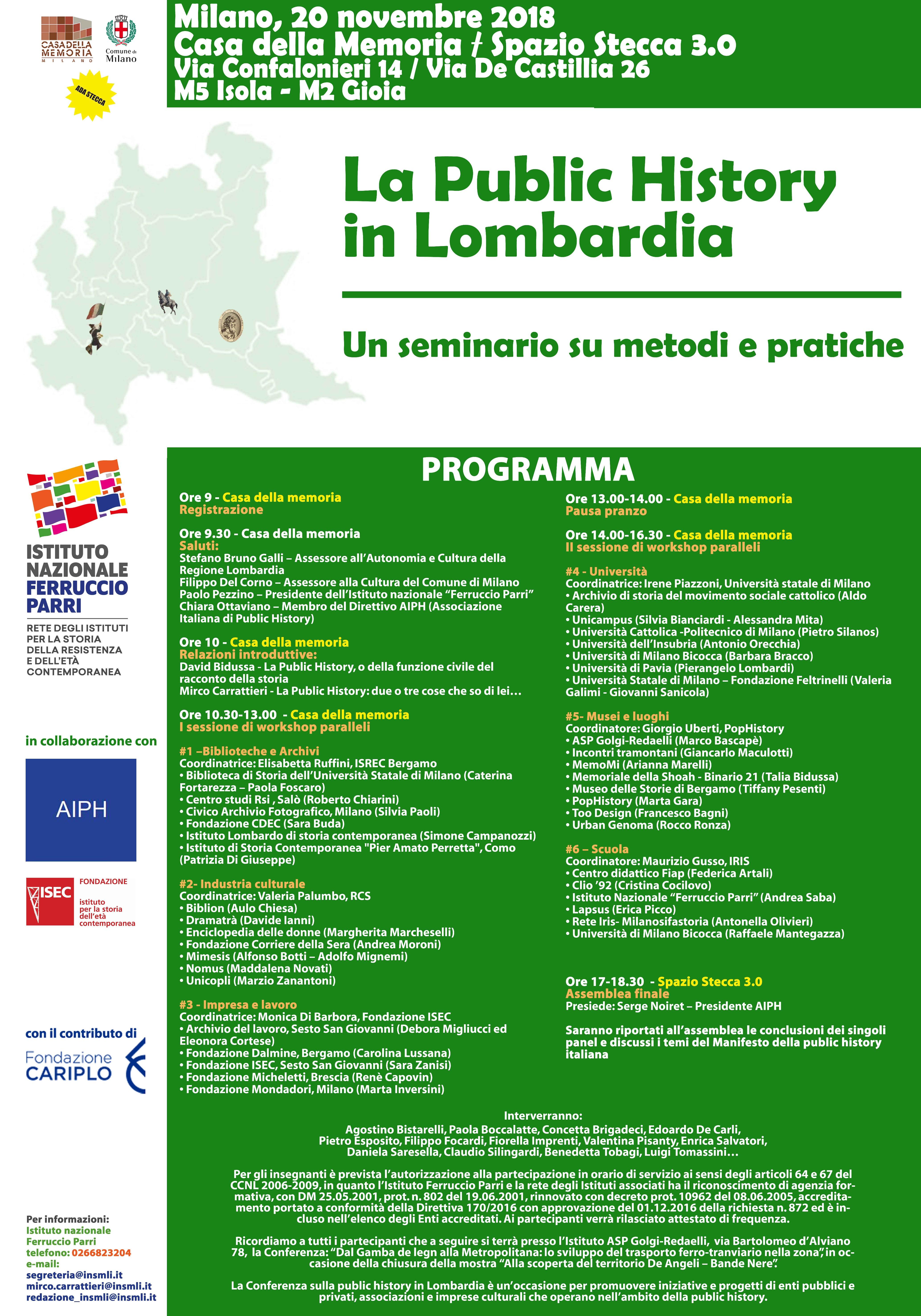 La Public History in Lombardia