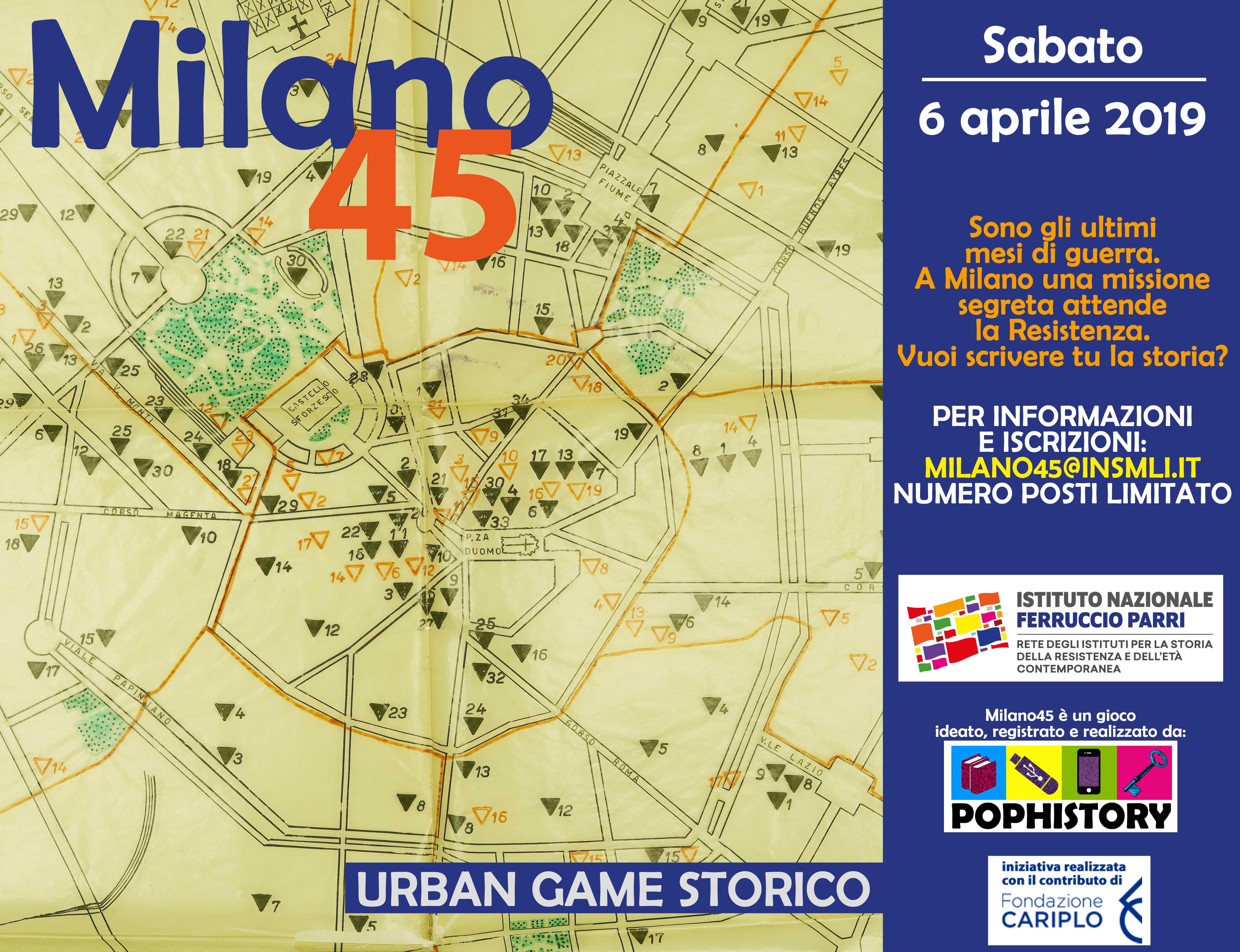 Milano45: urban game storico