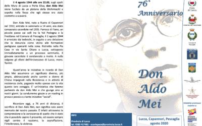 76° anniversario della morte di Aldo Mei