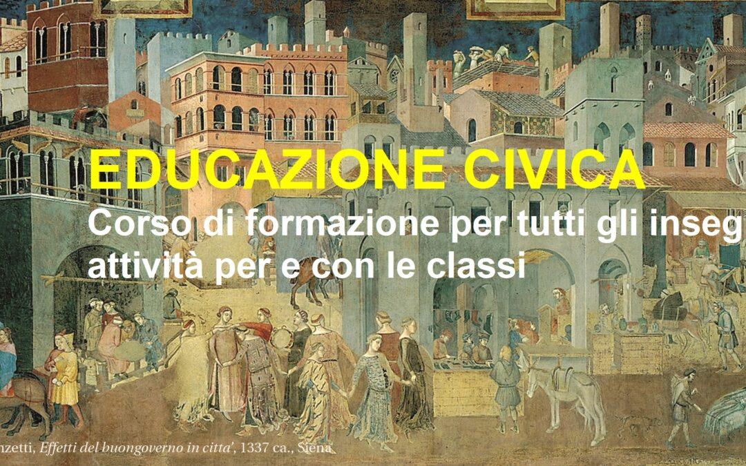 Educazione civica. Corso di formazione per insegnanti e attività per e con gli studenti