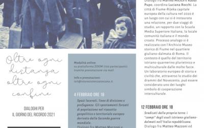Dialoghi dell'ISRT per il Giorno del Ricordo 2021