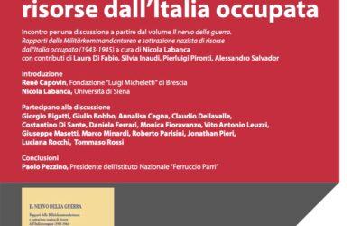 La sottrazione nazista di risorse dall'Italia occupata