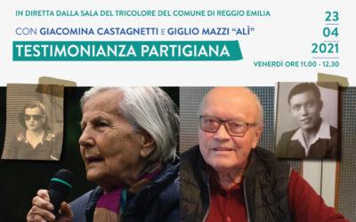 Testimonianza partigiana con Giacomina Castagnetti e Giglio Mazzi
