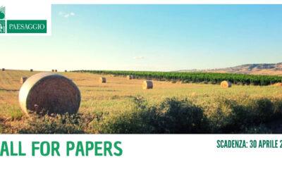 """Call for papers """"Il paesaggio agrario italiano"""""""