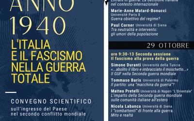 """Anno 1940: l'Italia e il fascismo nella """"guerra totale"""""""